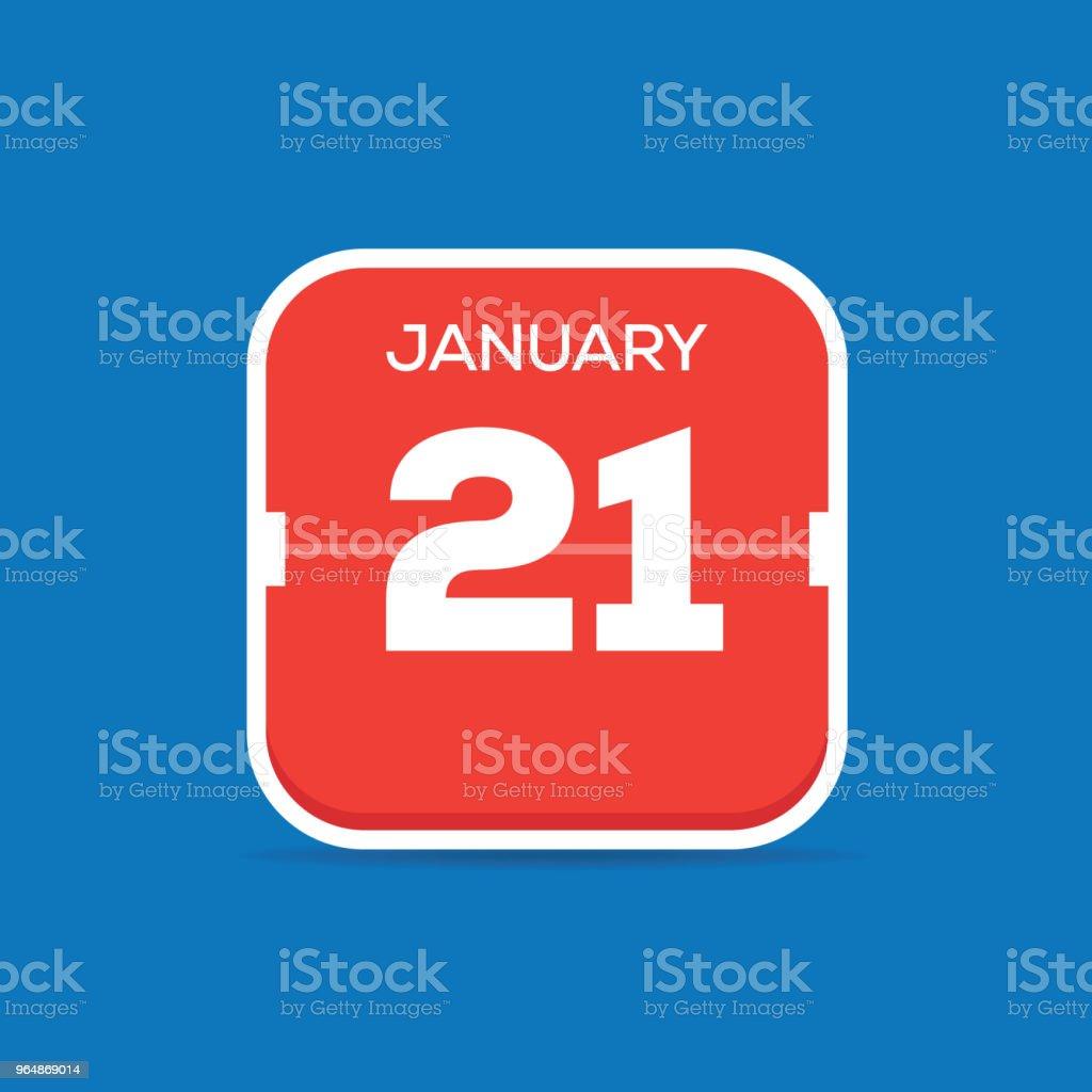 January 21 Calendar Flat Icon royalty-free january 21 calendar flat icon stock vector art & more images of art