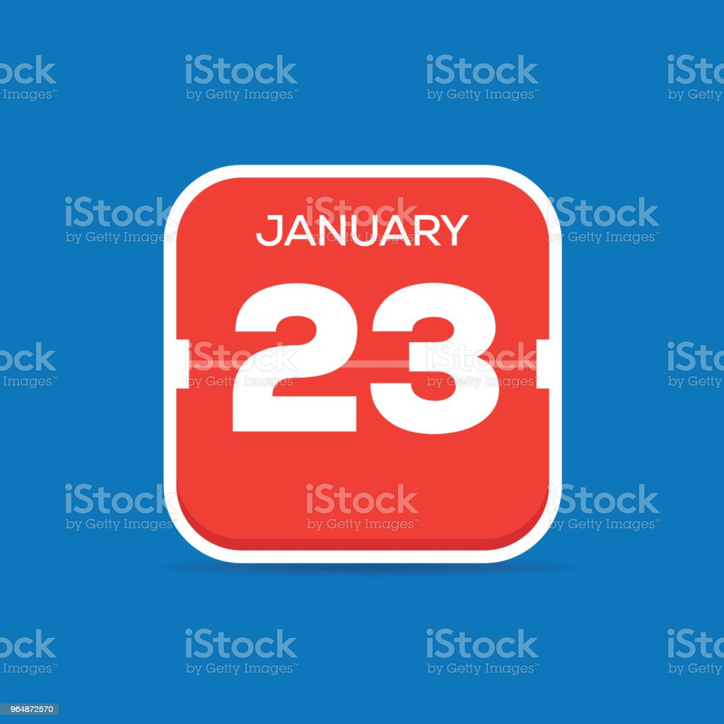January 23 Calendar Flat Icon royalty-free january 23 calendar flat icon stock vector art & more images of art