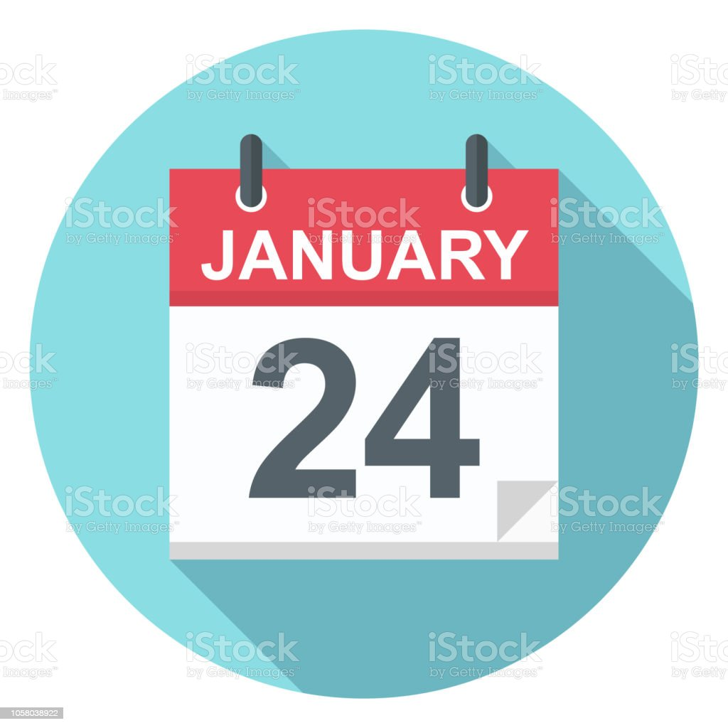 24calendar January 2020 January 24 Calendar Icon Stock Vector Art & More Images of 2018