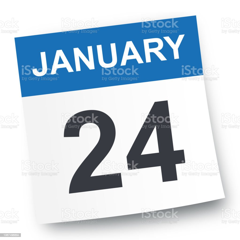 24calendar January 2019 January 24 Calendar Icon Stock Vector Art & More Images of 2019