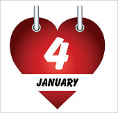 Vector January 4 and love