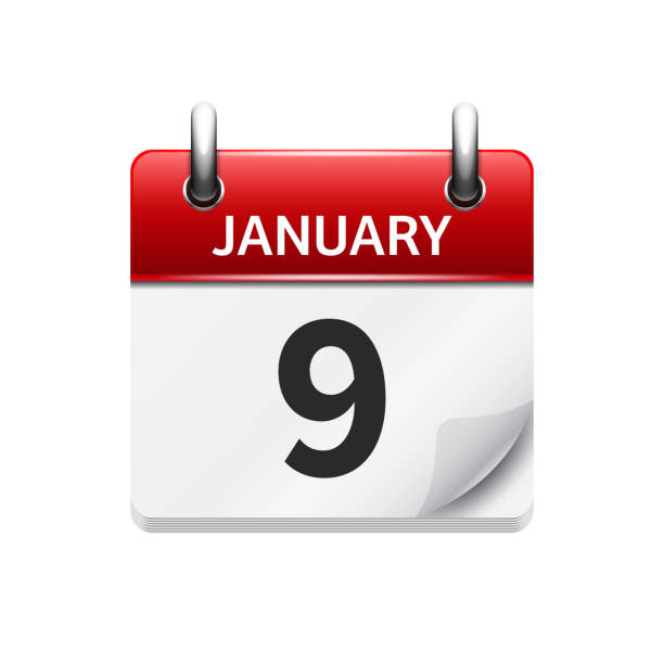 Daily Calendar Clipart : Royalty free january clip art vector images
