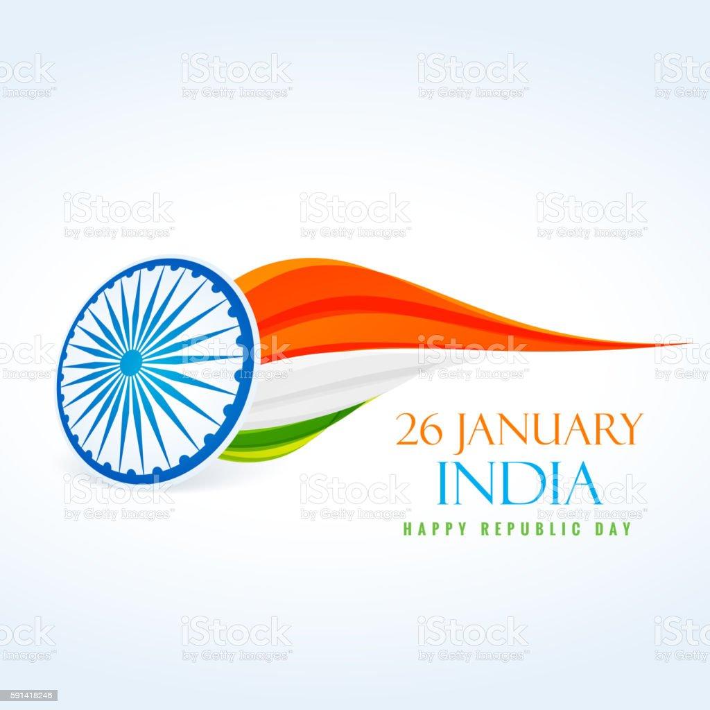 26 january republic day design vector art illustration