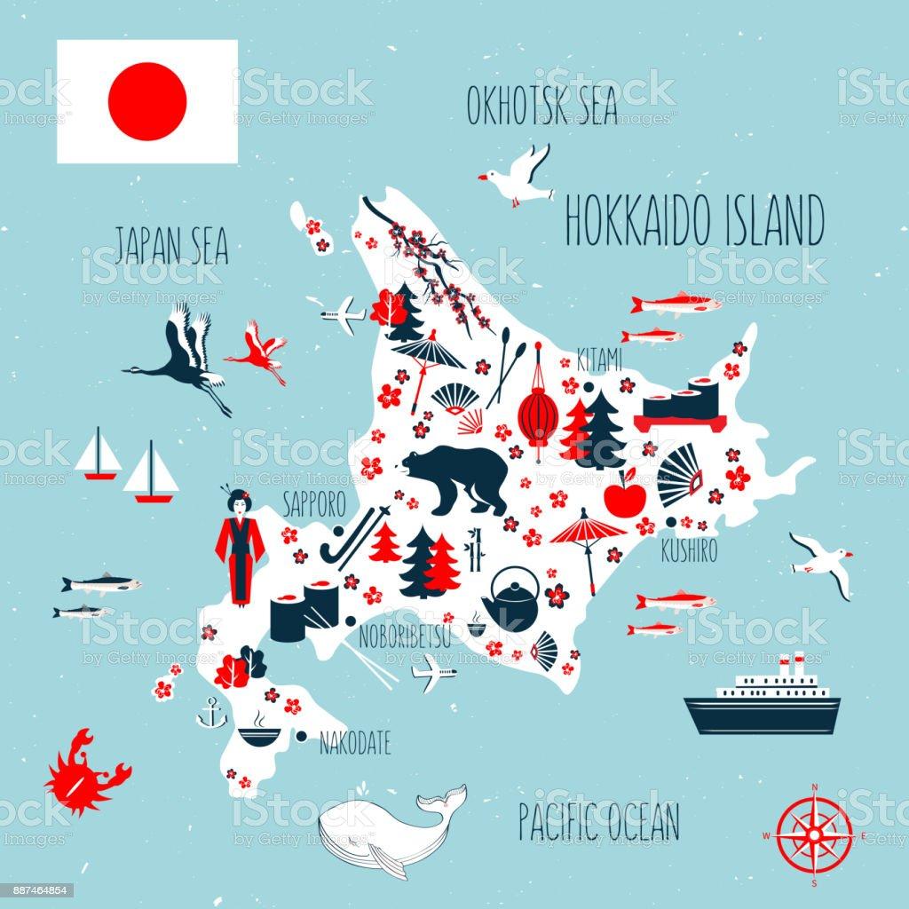 Map Hokkaido Island Train