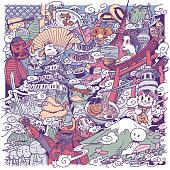istock japan culture doodle 1223109422