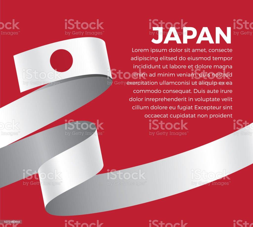 Fondo de bandera de Japón - ilustración de arte vectorial