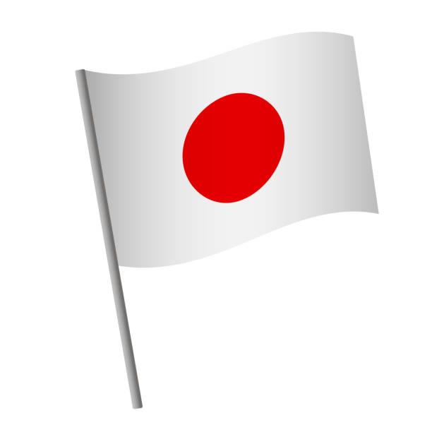 ilustraciones, imágenes clip art, dibujos animados e iconos de stock de icono de la bandera de japón. - bandera japonesa