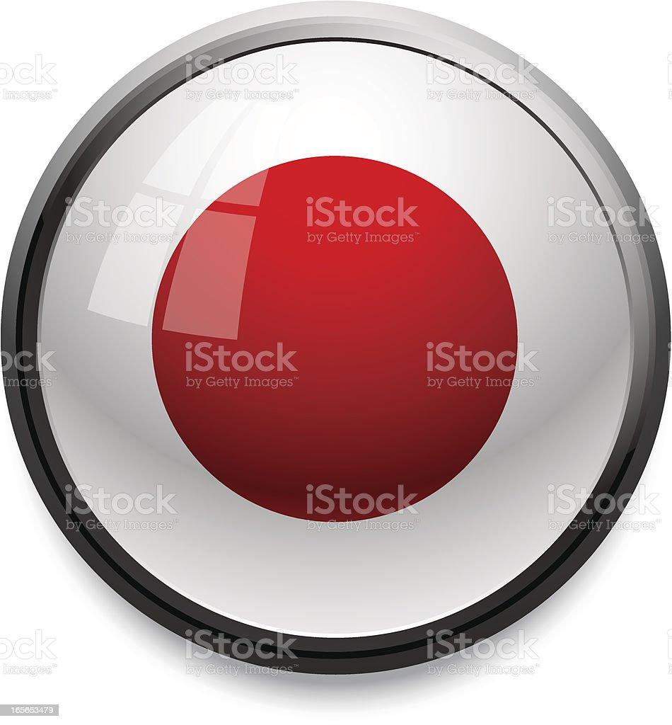 Japan - flag icon royalty-free stock vector art
