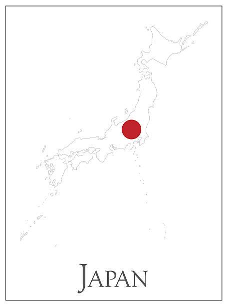 ilustraciones, imágenes clip art, dibujos animados e iconos de stock de bandera de mapa de japón - bandera japonesa