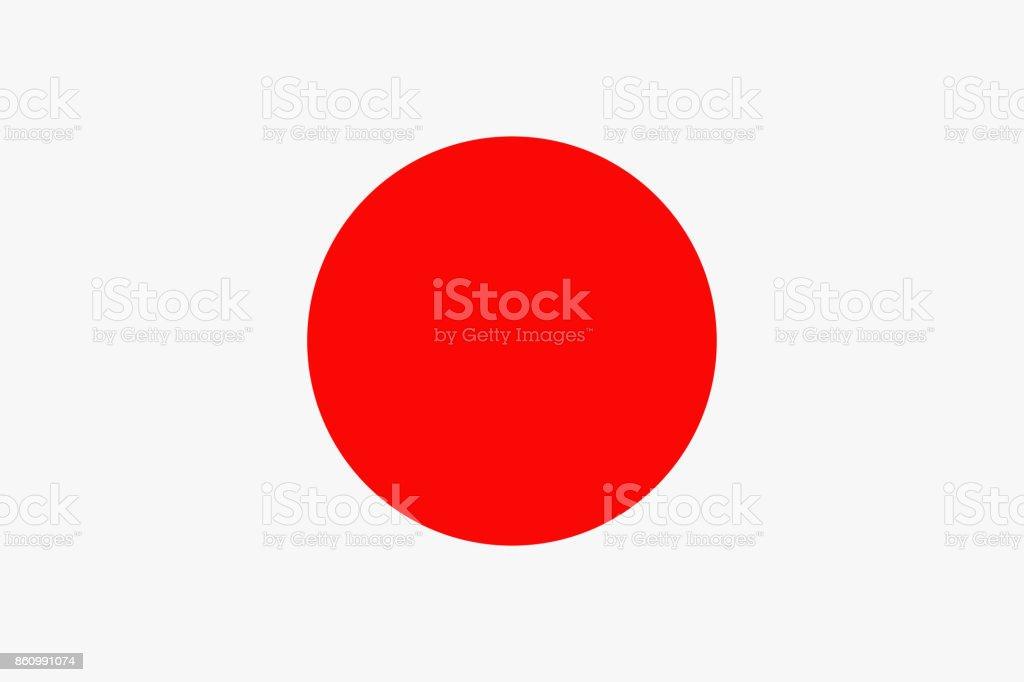 Japan Flag Vector Flat Icon vector art illustration