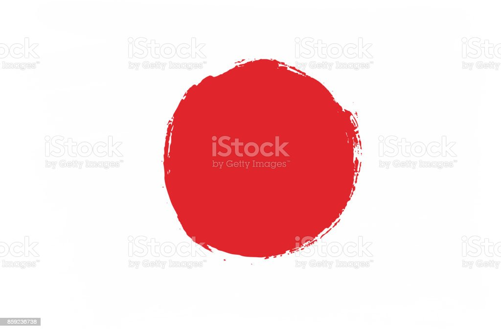 Japan flag vector hand painted with rounded brush stock vector art japan flag vector hand painted with rounded brush royalty free japan flag vector hand painted voltagebd Images