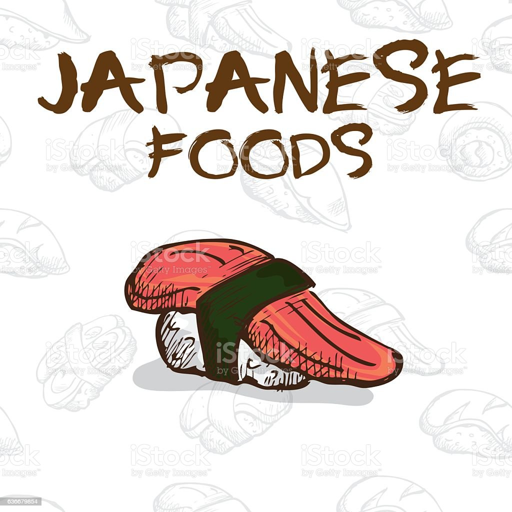 Japan food sushi drawing graphic design objects royalty free japan food sushi drawing graphic design