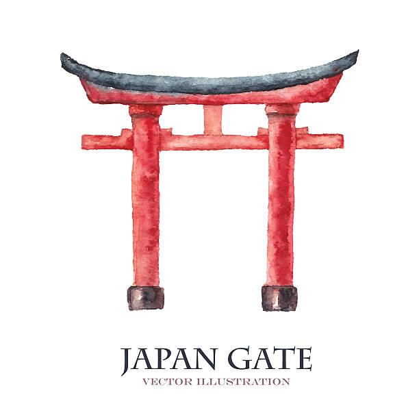 Best Torii Gate Illustrations, Royalty-Free Vector ...
