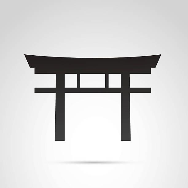 japan gates monument icon. - hiroshima stock illustrations