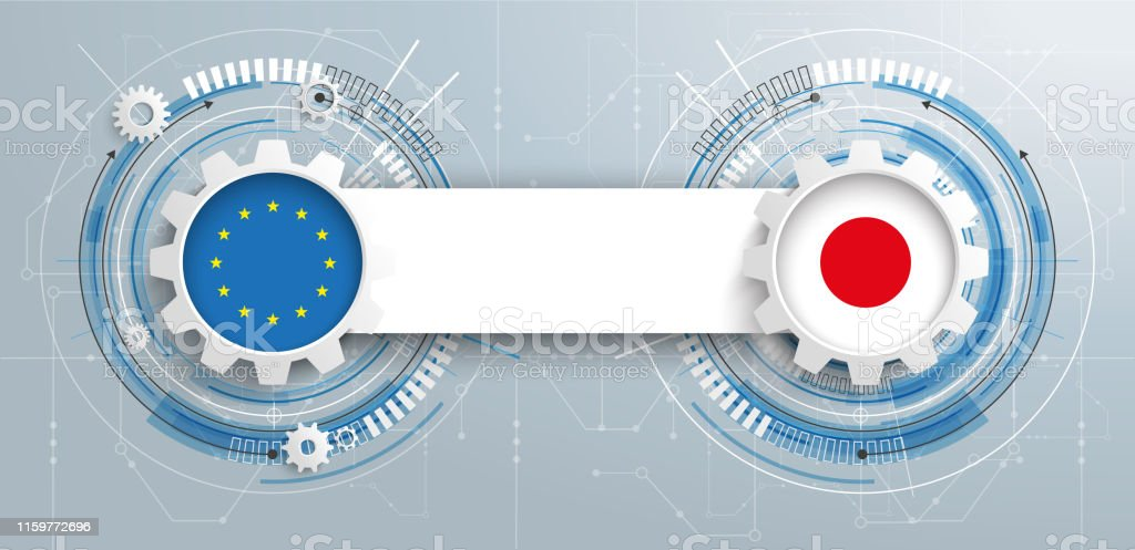 eu japan gear wheels circuit diagram royalty-free eu japan gear wheels circuit  diagram stock