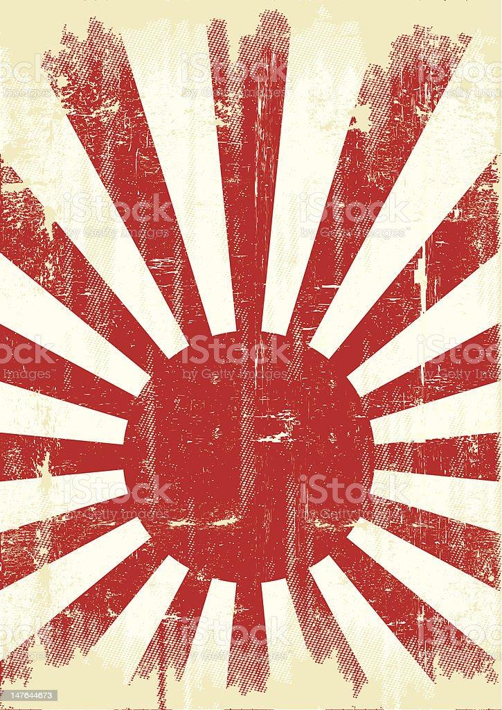 Japan grunge flag royalty-free stock vector art
