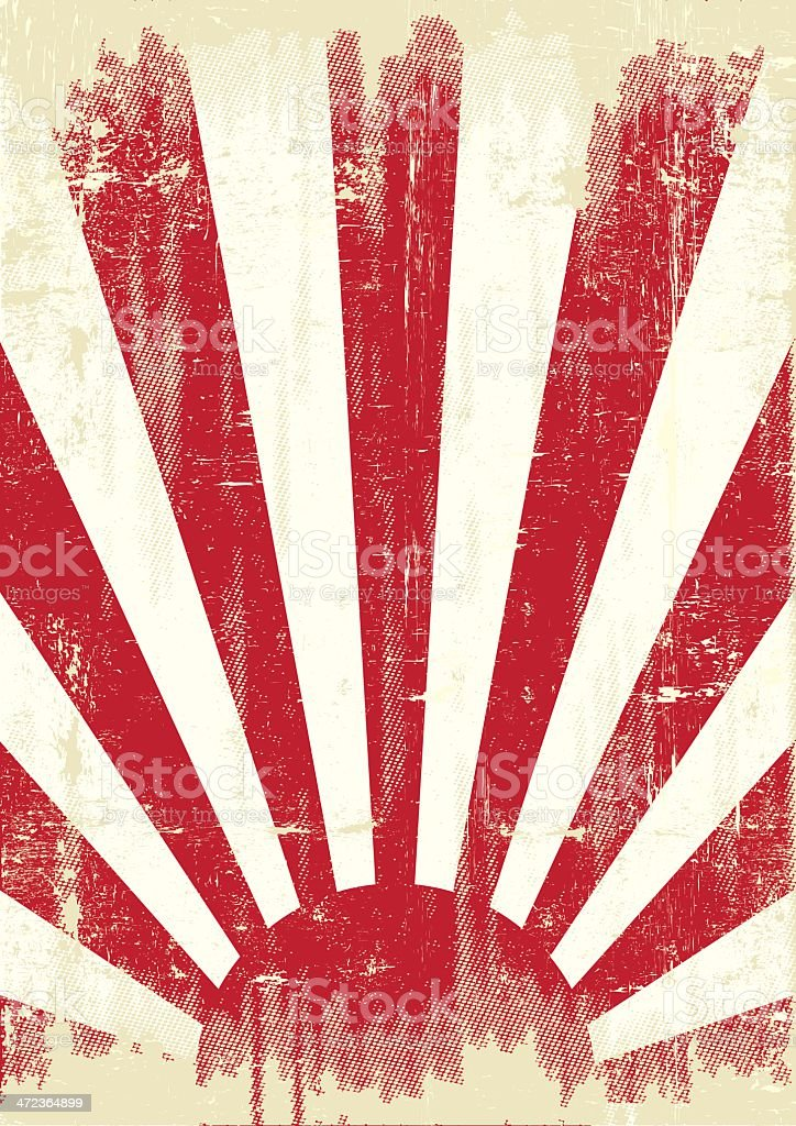 Japan grunge war flag vector art illustration
