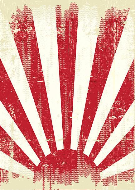 ilustraciones, imágenes clip art, dibujos animados e iconos de stock de guerra de grunge de bandera de japón - bandera japonesa