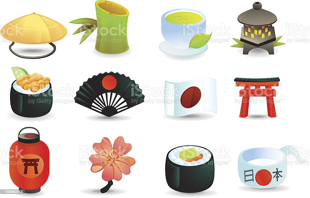 Japan Icons royalty-free stock vector art