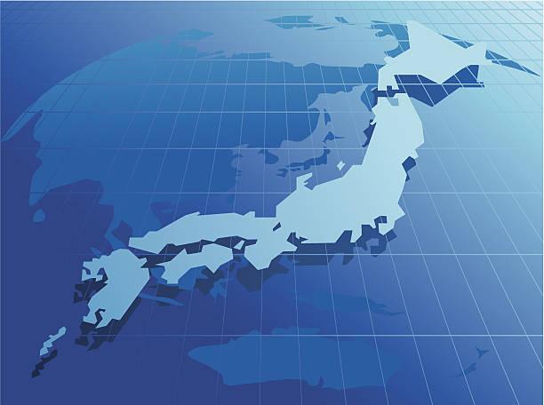 日本地図ネットワークベクトル - アジア旅行点のイラスト素材/クリップアート素材/マンガ素材/アイコン素材