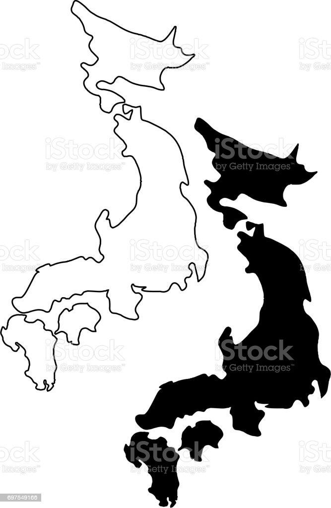 Japan Map Vector Stock Vector Art IStock - Japan map vector art