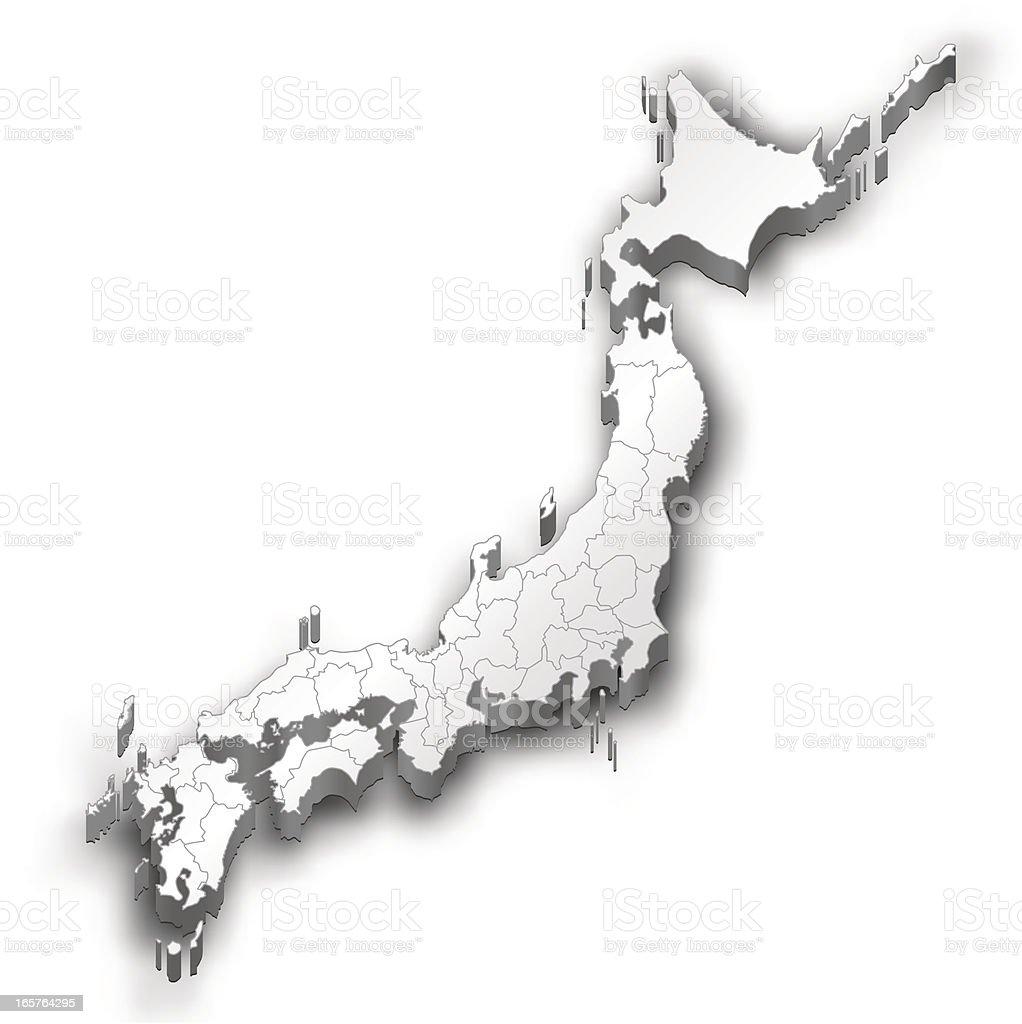 Japan Map White Stock Vector Art IStock - Japan map free