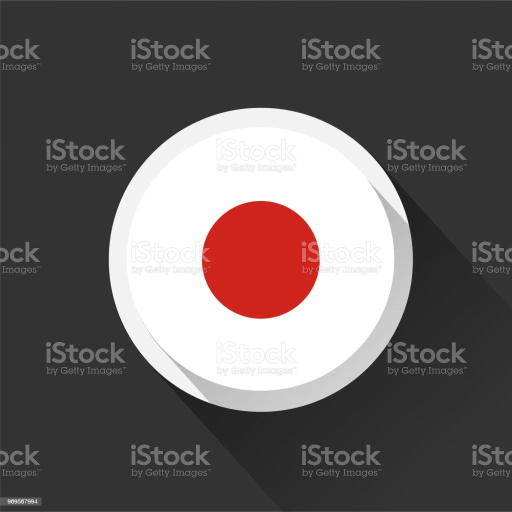 Japan national flag on dark background. vector art illustration