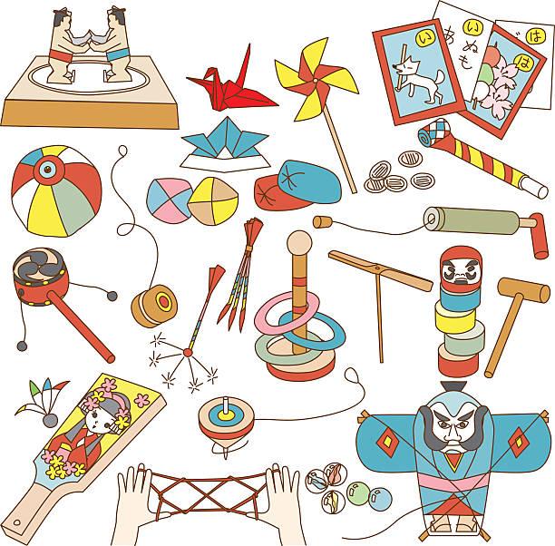 ilustrações de stock, clip art, desenhos animados e ícones de japan of old toys - balão enfeite