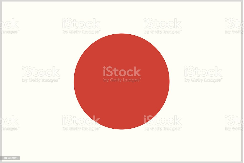 japan or japanese flag vector art illustration