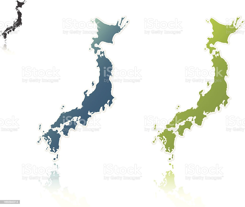 Japan outlines royalty-free stock vector art