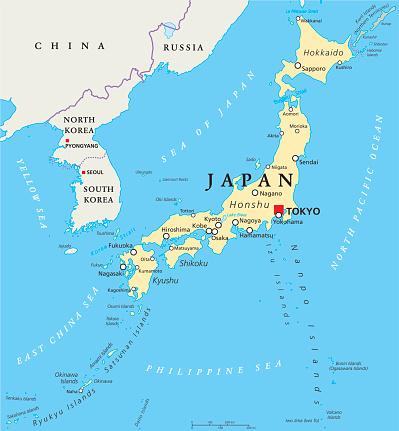 Il Giappone Cartina Fisica.Mappa Politica Del Giappone Immagini Vettoriali Stock E Altre Immagini Di 2015 Istock