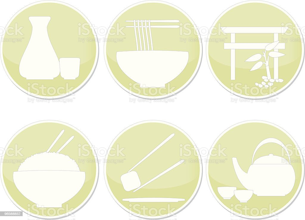Ícones de restaurante Japonês - Royalty-free Arroz - Alimento Básico arte vetorial