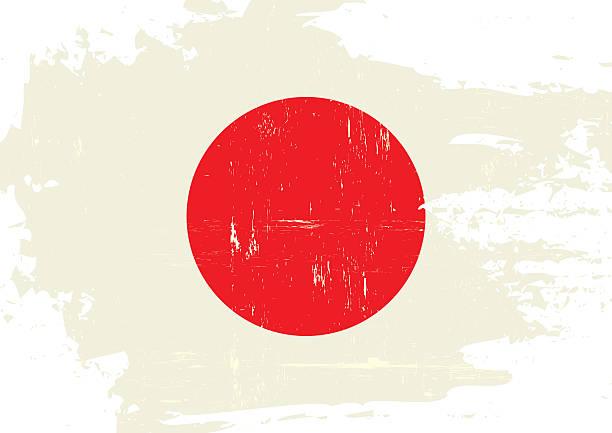 ilustraciones, imágenes clip art, dibujos animados e iconos de stock de bandera de japón rayada - bandera japonesa