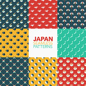 Japan Seamless Pattern Set