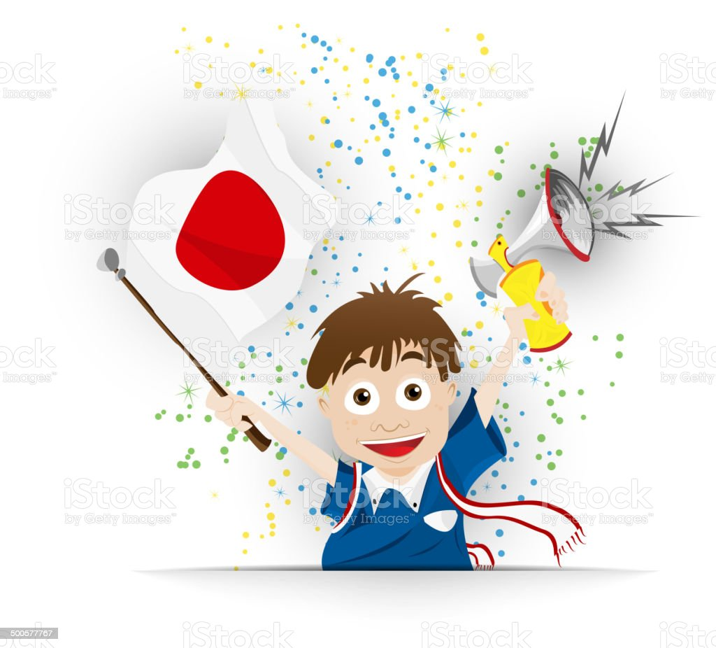 Japan Fussballfan Flag Comic Stock Vektor Art Und Mehr Bilder
