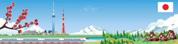 日本の旅 - アジア旅行点のイラスト素材/クリップアート素材/マンガ素材/アイコン素材