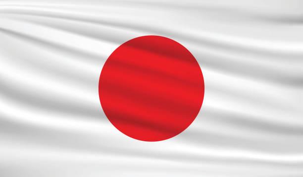 ilustraciones, imágenes clip art, dibujos animados e iconos de stock de de japón  - bandera japonesa