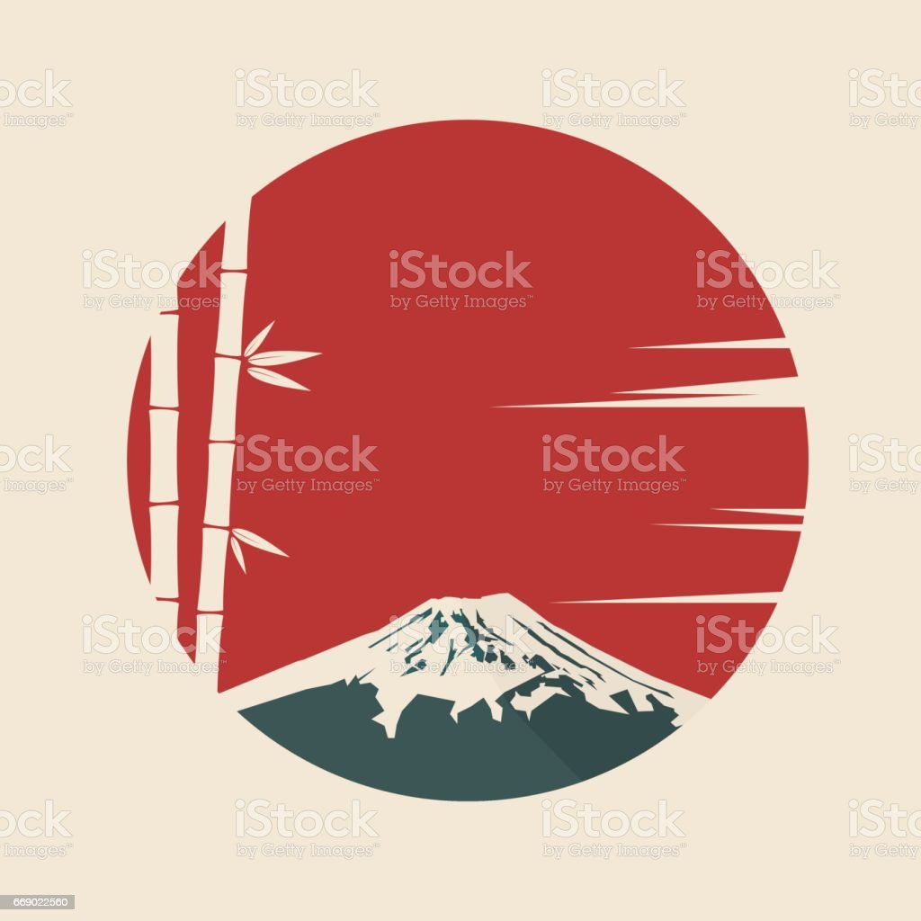 Japan vector art illustration