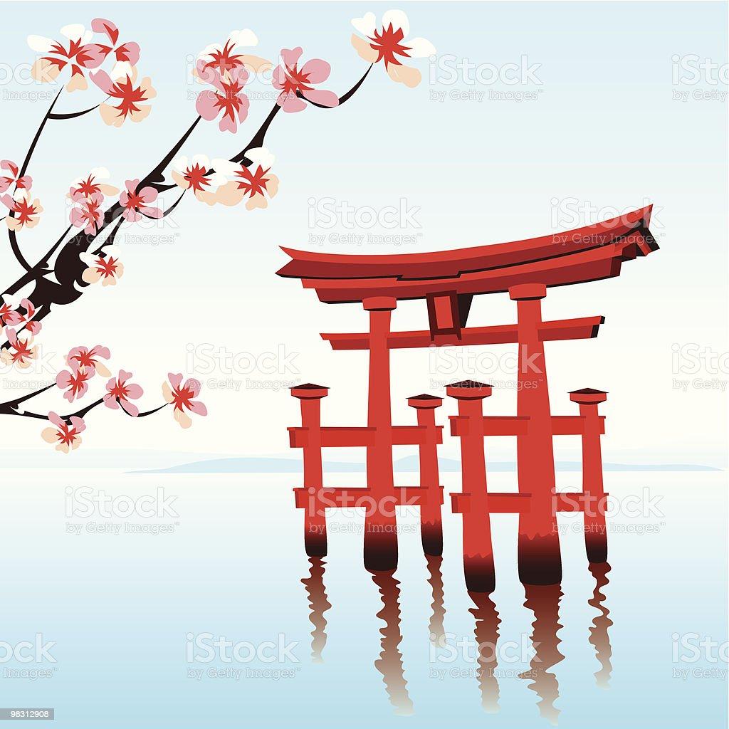 In Giappone in giappone - immagini vettoriali stock e altre immagini di acqua royalty-free