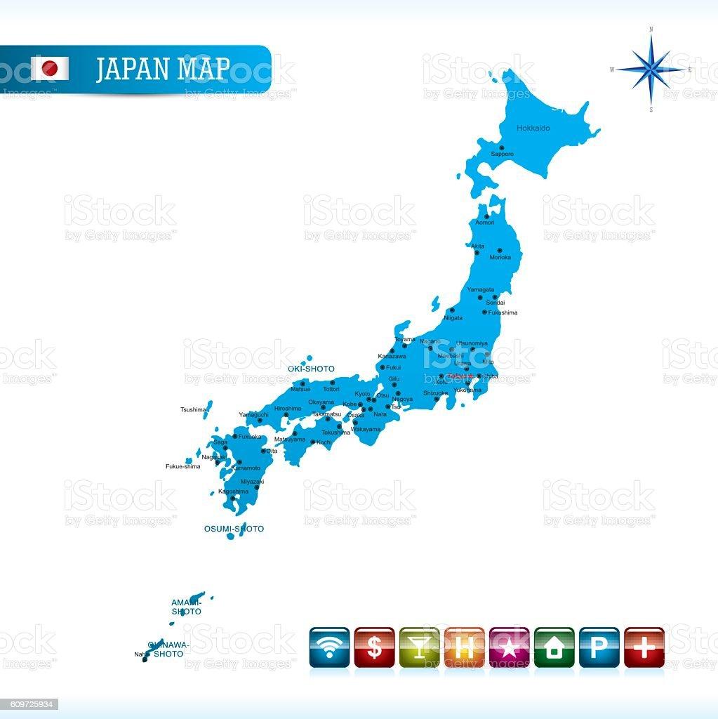 Japan Vector Map Stock Vector Art IStock - Japan map vector art