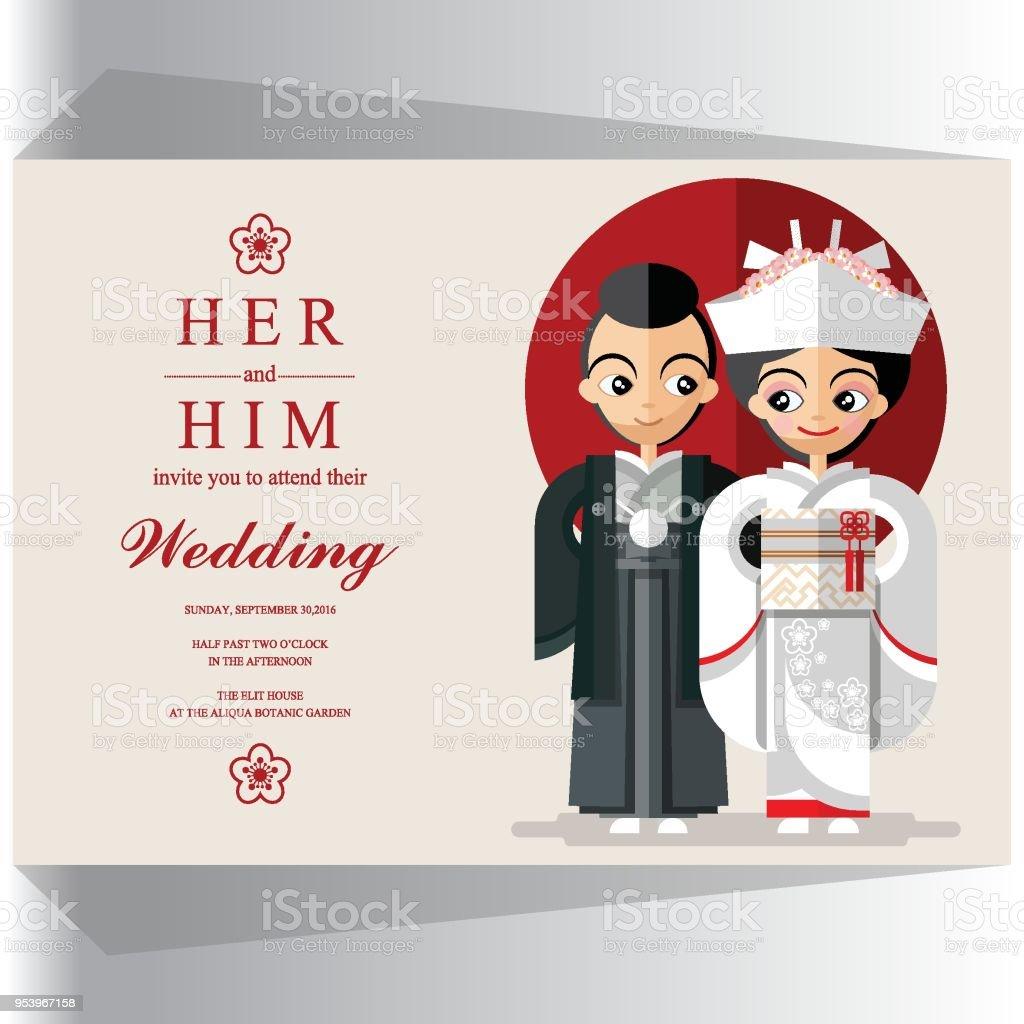 Japan wedding invitation card stock vector art more images of japan wedding invitation card royalty free japan wedding invitation card stock vector art amp stopboris Images