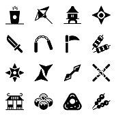 istock Japanese Accessory Icons in Style Pack 1271719715