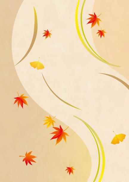 日本の紅葉背景イラスト - パターンや背景点のイラスト素材/クリップアート素材/マンガ素材/アイコン素材