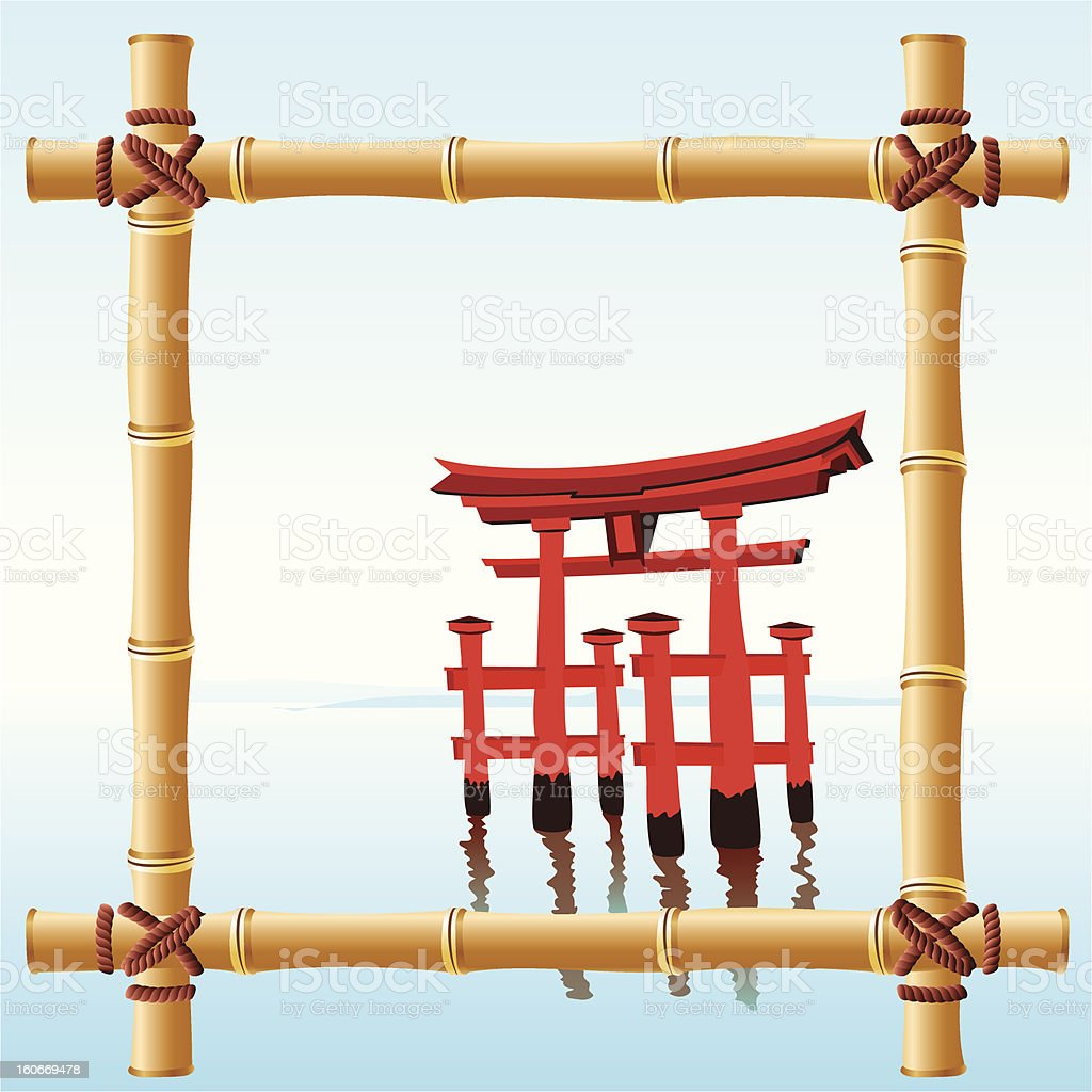 Japanischem Bambusrahmen Vektor Illustration 160669478 | iStock