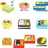 Japanese BENTO, box lunch, bento box