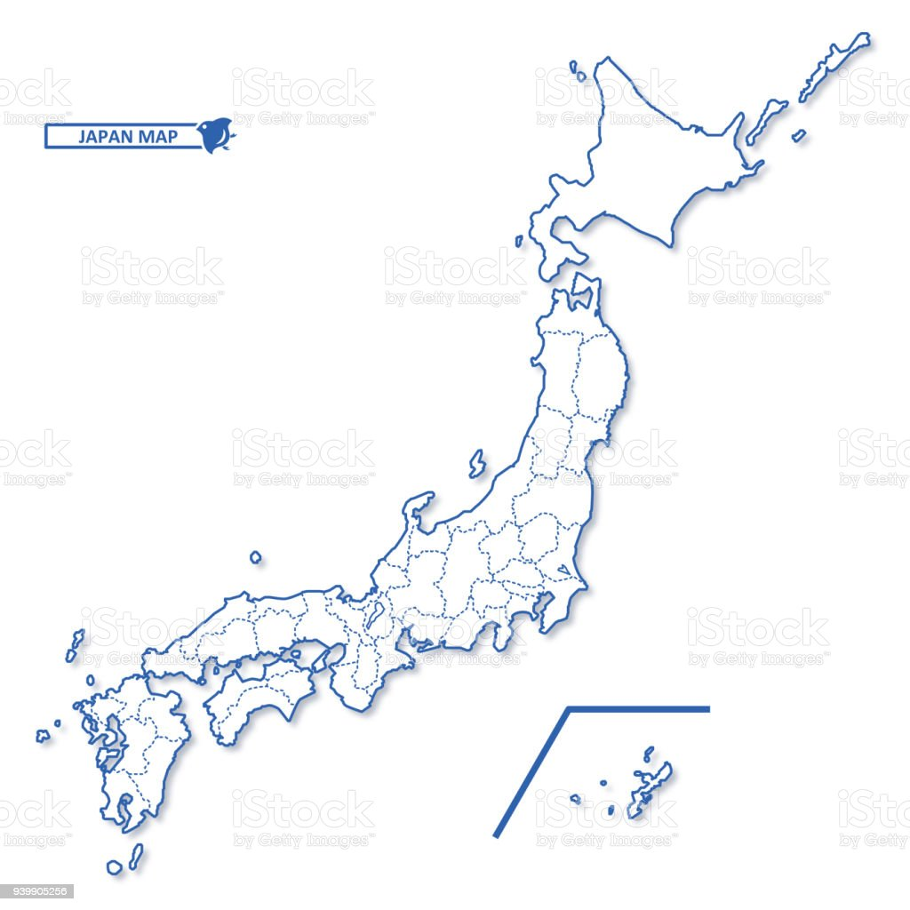 Japanese Blank Map Stock Illustration - Download Image Now ...