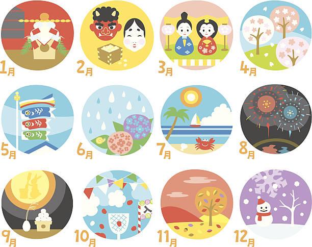 日本のカレンダー - 特別な日点のイラスト素材/クリップアート素材/マンガ素材/アイコン素材