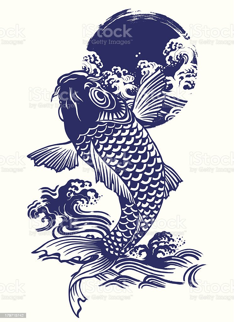 Japanese carp royalty-free japanese carp stock vector art & more images of animal scale