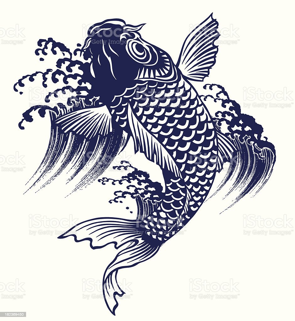 Japanese carp royalty-free stock vector art