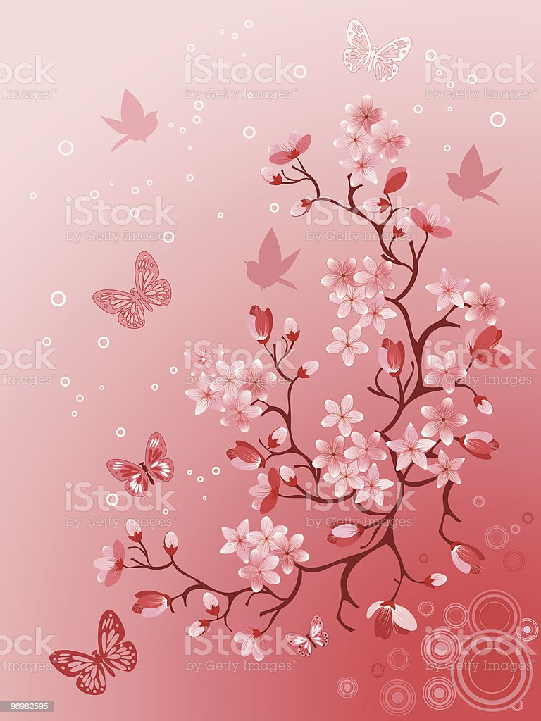 Japanese cherry royalty-free japanese cherry stock vector art & more images of backgrounds